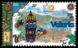 2018 MÉXICO 100 Años Del Municipio De Puerto Vallarta MNH, 100 Years Of The Municipality Of Puerto Vallarta ANGELES - Mexico