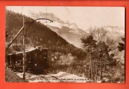 MTV-12 Chemin De Fer Aigle Sepey Diablerets Et Dents Du Midi, TRAIN. Sepia. Circulé 1929 - VD Vaud
