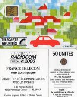 TELECARTE INTERNE *RADIOCOM 2000  La Voiture DESSIN De NOEL Et CLOTILDE PASQUIER  Encart+Voeux  01/89  (C 38 ) - Internes