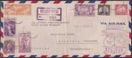 Zeppelin Hindenburg, Trans Atlantic Flight 1936, Lakehurst, Cover Creased - Briefe U. Dokumente