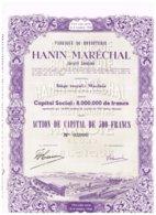 Titre Ancien - Fabrique De Bonneterie Hanin-Maréchal - Titre De 1950 -  N° 03090 - Déco - Textiel