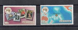 PENRHYN (Isole Cook) - 1984 - Ausipex 84 - 2 Valori . Nuovi .- Linguellati - (FDC16850) - Penrhyn