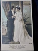 CARTE POSTALE _ CPA VINTAGE : COUPLE _ ROMANCE _ AMOUR _ MARIAGE     // CPA.FTS.276.13.S1 - Couples