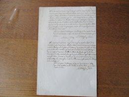 LOUVIGNIES LEZ BAVAY LES 28 FEVRIER ET 19 AOUT 1839 LE MAIRE A. ROBAUT TRANSFERTS DE DOMICILE M. ANTOINE S. ET M.MATHIEU - Manuscrits