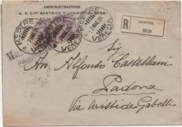 Cent. 50 Michetti Coppia Su Busta Con Annullo Mestre (Venezia) 07.05.1924 - 1900-44 Victor Emmanuel III