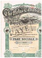 Titre Ancien - The Belgo Canadian Pulp And Paper - Titre De 1917 -  N° 21241 - Déco - Industrie