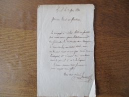 EPINAL LE 8 MAI 1831 COURRIER DE M. RANNENOT A MESSIEURS CURK ET MATHIEU AU SUJET DU JOURNAL LA SENTINELLE - Manuscrits