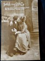 CARTE POSTALE _ CPA VINTAGE : CPA Kiss _ IDYLLE à La CAVE _ COUPLE _ ROMANCE _ Fantaisie _ 1919   // CPA.FTS.276.13.S1 - Couples