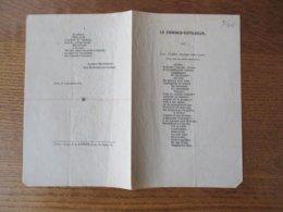 PARIS LE 15 SEPTEMBRE 1845 LE COMMIS VOYAGEUR ALBERT-MONTEMONT VICE-PRESIDENT DU CAVEAU - Partitions Musicales Anciennes
