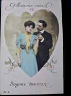 CARTE POSTALE _ CPA VINTAGE : CPA P.J N°81 _ COUPLE _ ROMANCE _ AMOUR _ Fantaisie   // CPA.FTS.276.13.S1 - Couples