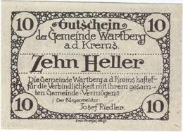 Austria (NOTGELD) 10 Heller Wartberg 31-12-1921 Kon-fs 1141 A.3 Marrón Oscuro UNC Ref 3650-1 - Austria