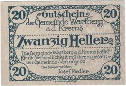 Austria (NOTGELD) 20 Heller Wartberg 31-12-1921 Kon-fs 1141 A.4 Verde UNC Ref 3651-1 - Austria