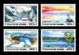 North Korea 1992 Mih. 3265/68 Paektu Mountain Scenery MNH ** - Corée Du Nord