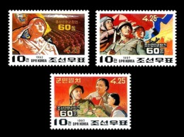 North Korea 1992 Mih. 3286/88 Korean People's Army MNH ** - Corée Du Nord