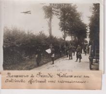 MANOEUVRES PICARDI LATHAM ANTOINETTE EFFECTUANT UNE RECONNAISSANCE  18*13CM Maurice-Louis BRANGER PARÍS (1874-1950) - Aviación