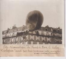 FÊTE AÉRONAUTIQUE DU CHAMP DE MARS LE BALLON L'ARLEQUIN  TROUVILLE 18*13CM Maurice-Louis BRANGER PARÍS (1874-1950) - Aviación