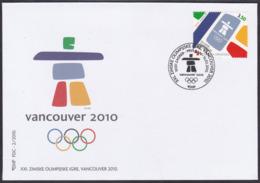 Croatia, Vancouver Winter Olympics, 2010, FDC - Winter 2010: Vancouver