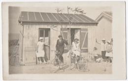 CARTE PHOTO.  COUPLE ELEGANT. HOMME Et FEMME Sur Un VELO. 1905. - Couples