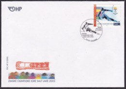 Croatia, Salt Lake City Winter Olympics, 2002, FDC - Winter 2002: Salt Lake City