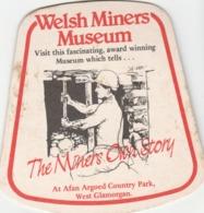 UNUSED BEERMAT - WHITBREAD WALES BREWERY (ELY, WALES) - WELSH BITTER - WELSH MINERS MUSEUM - (Cat 033) - (1985) - Portavasos