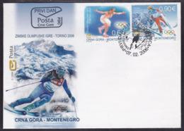 Montenegro, Torino Winter Olympics, 2006, FDC - Winter 2006: Torino