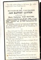 Luyten Jan Baptist Wed Van Ouytsel Maria Catherina °1865 Langdorp +1954 Wolfsdonk - Esquela