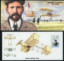 2010 BLOC SOUVENIR N°52 / PIONNIERS DE L'AVIATION / HENRY FARMAN 1874 - 1958 / ** MNH. TB - Souvenir Blocks & Sheetlets