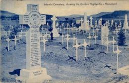 1914 SUDAFRICA , TARJETA POSTAL  CIRCULADA , LADYSMITH - LONDRES , INTOMBI CEMETERY , GORDON HIGHLANDER'S MONUMENT - Sudáfrica