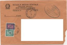Segnatasse £. 50 + £. 500 Su Busta Con Annullo Brendola (Vicenza) 28.03.1986 - 6. 1946-.. Repubblica