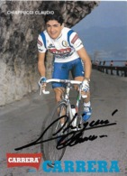 CARTE CYCLISME CLAUDIO CHIAPPUCCI SIGNEE TEAM CARRERA 1991 - Cyclisme