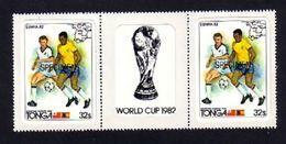 Tonga 1982 World Cup Soccer Specimen Strip - Fußball-Weltmeisterschaft