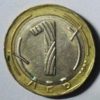 MONEDA BIMETALICA DE 1 LEV DE BULGARIA DE 2002 - Bulgaria