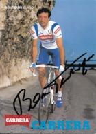 CARTE CYCLISME GUIDO BONTEMPI SIGNEE TEAM CARRERA 1991 - Cyclisme
