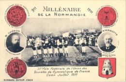 1911 , FRANCIA - CAEN , 37º FÉTE FÉDÉRALE DE L'UNION DE SOCIÉTÉS DE GYMNASTIQUE , GIMNASIA , GYM - Gimnasia