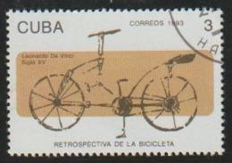 Cuba 1993 Scott 3493 Sello * Bicicleta Diseñada Por Leonardo Da Vinci Siglo XV 3c Cuba Stamps Timbre Briefmarke Kuba - Cuba