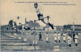 1909 FRANCIA - NANTES, TARJETA POSTAL SIN CIRCULAR , SOUVENIR DU CONCOURS DE GYMNASTIQUE , FED. SPORTIVE DES PATRONAGES - Gimnasia
