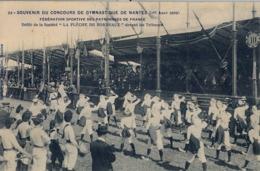 1909 FRANCIA - NANTES, T.P. SIN CIRCULAR , CONCOURS DE GYMNASTIQUE , FED. SPORTIVE DES PATRONAGES, LA FLÉCHE DE BORDEAUX - Gimnasia