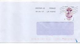 """2017--tp  """" Anne Morgan  """" .seul Sur Lettre - Marcophilie (Lettres)"""