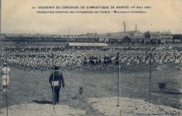 1909 FRANCIA - NANTES, T.P. SIN CIRCULAR , CONCOURS DE GYMNASTIQUE , FED. SPORTIVE DES PATRONAGES, MOUVEMENTS D'ENSEMBLE - Gimnasia