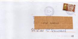 """2008--tp Adhésif """" Antiquité Grecque  """" .seul Sur Lettre  .......... Cachet Rond à étoile POITIERS Hôtel De Ville - Marcophilie (Lettres)"""