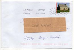"""2015--tp Adhésif """" LA PERNELLE -- 50  """" .seul Sur Lettre  ...... - Marcophilie (Lettres)"""