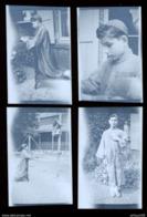 LOT DE 4 NEGATIFS PHOTO  - JEUNE GARCON ADOLESCENT COMMUNIANT COMMUNION - TEENAGER YOUNG BOY - Persone Anonimi
