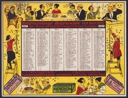 Kalender 1927, Aeroxon Fliegenfänger, Fliegenfängerfabrik Bregenz-Vorarlberg, Kalender Mit Namenstagen - Old Paper