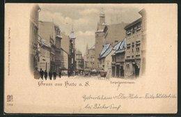 AK Halle A. S., Verkehr Auf Der Leipzigerstrasse - Allemagne