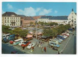 Allemagne -- LANDAU  --1971--Rathausplatz ( Belles Voitures, Fête, Manèges ) - Landau
