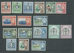 Jamaica 1962-64 Independence Overprints First Set Of 12 + Later Odds MNH / MLH - Jamaica (...-1961)