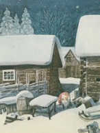 Brownie - Gnome - Elf Standing In The Yard And Thinking - Harald Wiberg - Pictura Graphica AB - Christmas