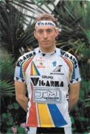 CARTE CYCLISME JESUS CRUZ MARTIN SIGNEE TEAM WIGARMA 1991 - Cyclisme