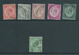 Jamaica 1912 - 1927 KGV 6 Values 1/2d -> 1 Shilling Sound Used - Jamaica (...-1961)