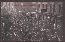 GREAT BRITAIN.  POSTCARD. 1900's. UNUSED. THE STRIKERS MARCH TO LONDON. PRINCE REGENT SERIES. NORTHAMPTON ARMY BOOT MAKE - Gewerkschaften